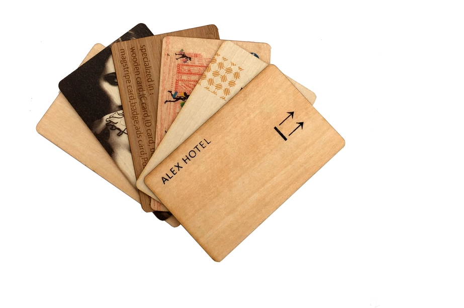 Wooden card rfid