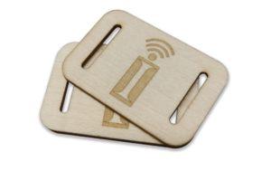 tag rfid passivo in legno inserto braccialetto rfid